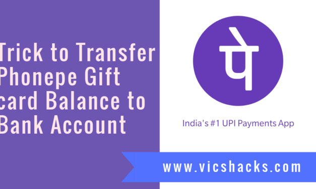 Trick to Transfer Phonepe Gift Voucher Balance to Bank Account