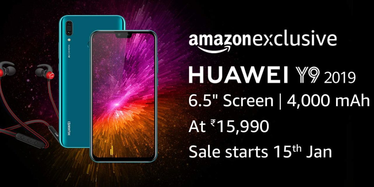 Huawei Y9 2019 Version Launched with 6.5-inch FHD+ Display, Kirin 710 Processor, 4000mAh battery for Rs.15,990 via Amazon India