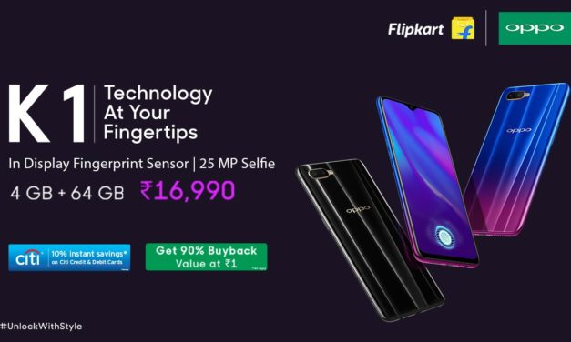 Oppo K1 with In-Display Fingerprint scanning, Powerful Snapdragon 660 Processor comes under Midrange segment of Rs.16,990