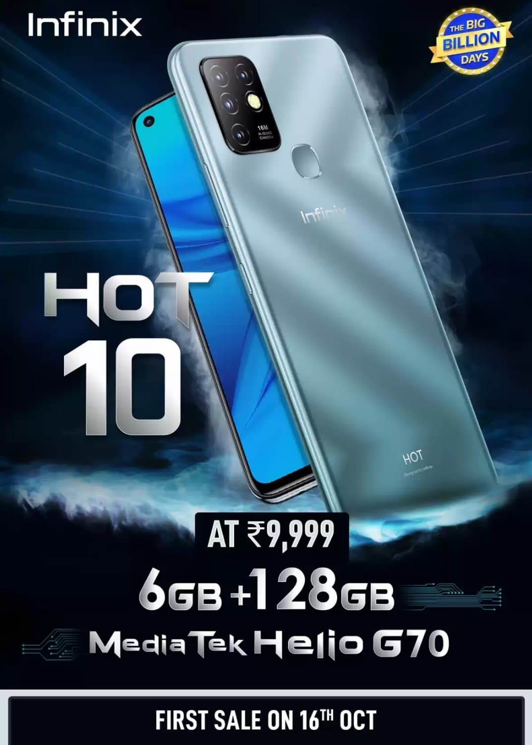 Infinix Hot 10 launched in India MediaTek Helio G70 Processor at Rs. 9,999 check specs and price in India of infinix hot10